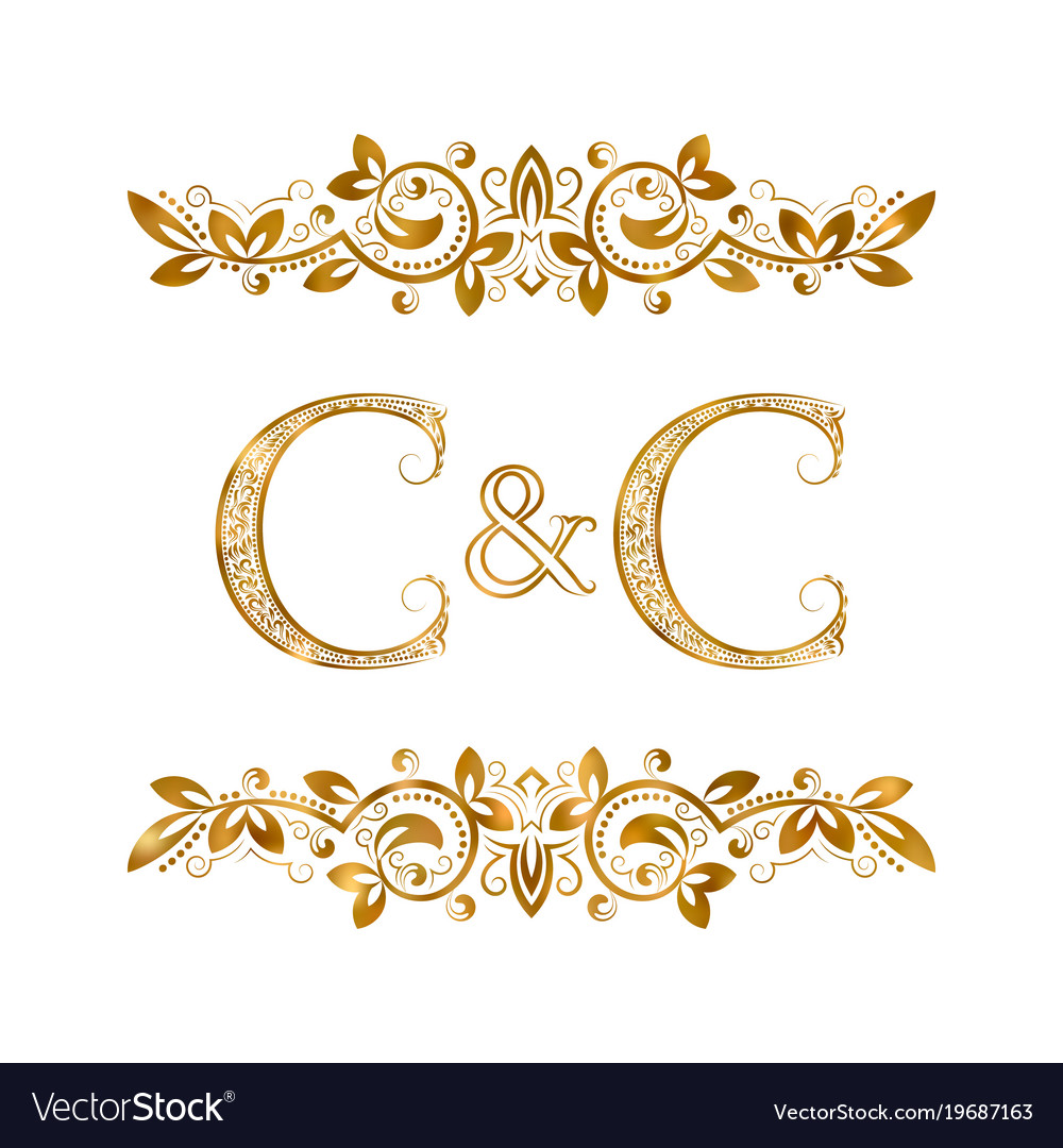 C and c vintage initials logo symbol two letters vector image c and c vintage initials logo symbol two letters vector image biocorpaavc