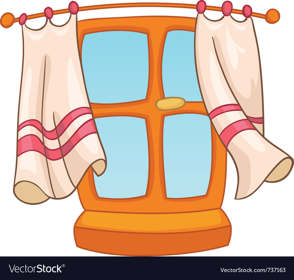 Cartoon home window vector image