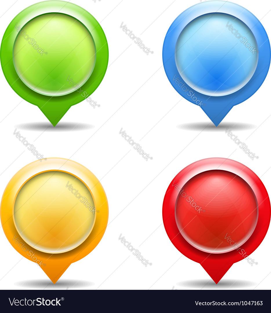 Map Pins vector image