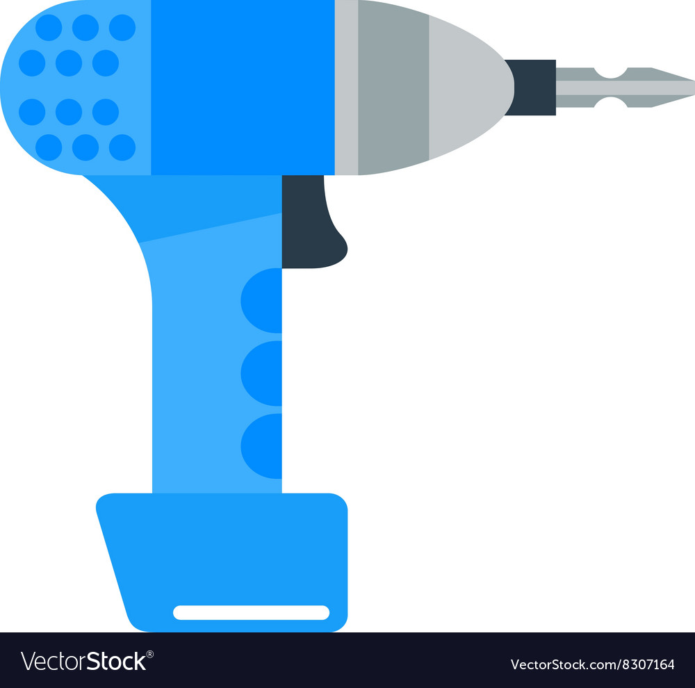 Drill hand tool flat electro tools vector image