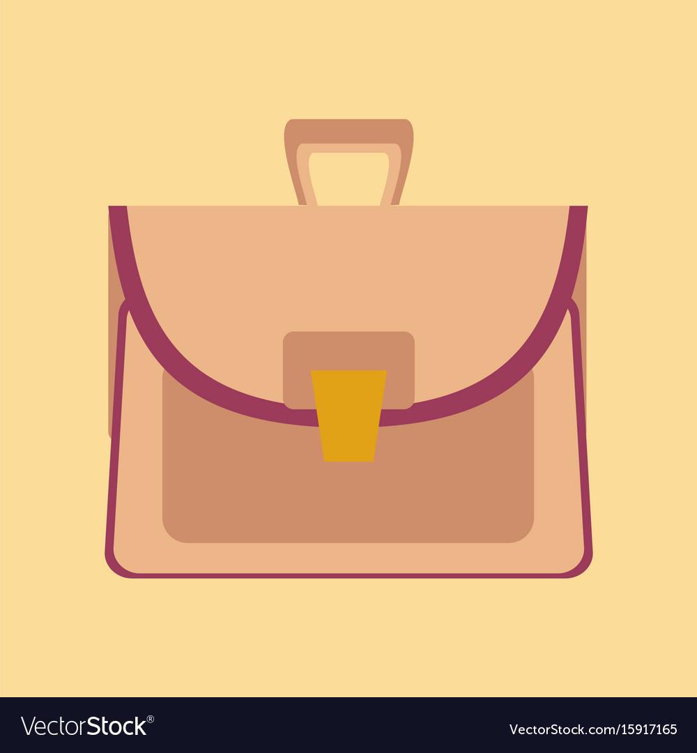 Flat icon on stylish background school bag case vector image