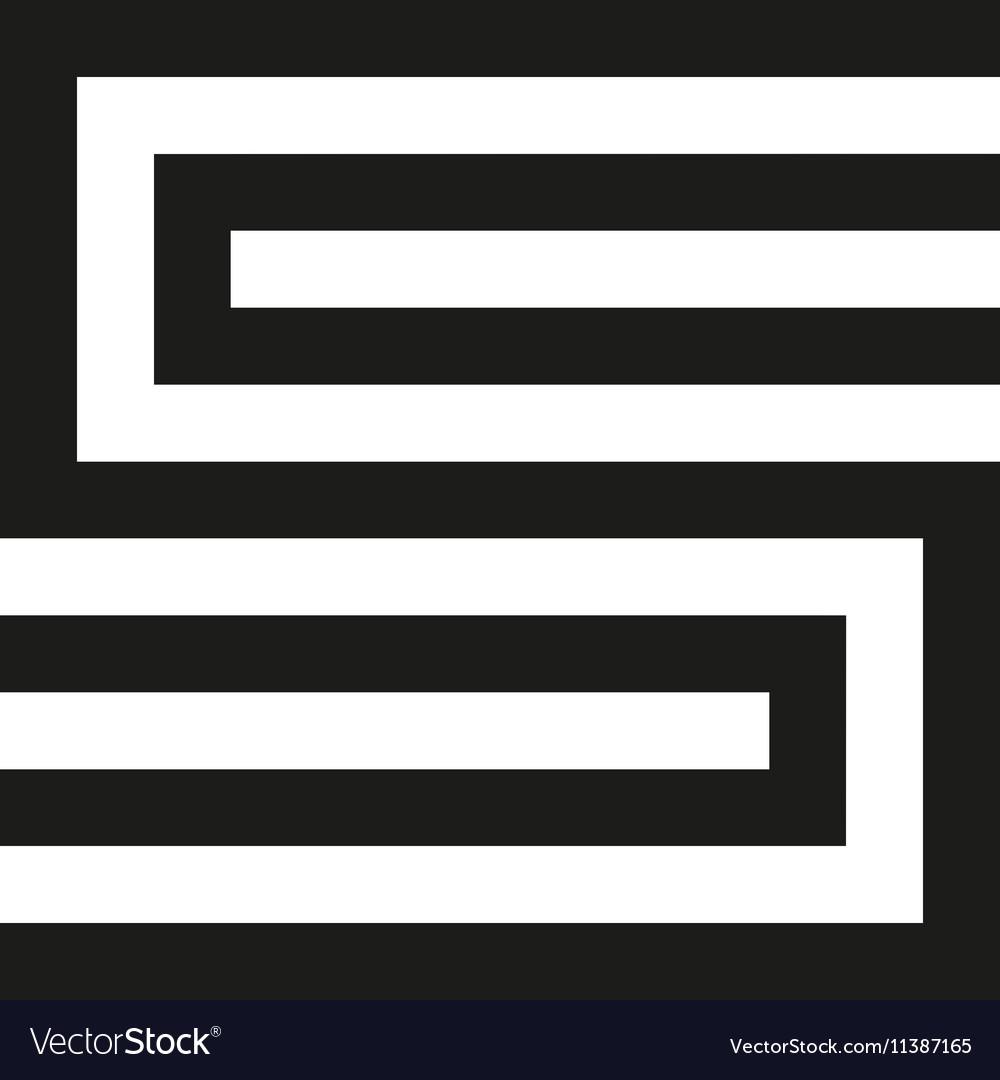 Unusual geometric letter S Architecture vector image