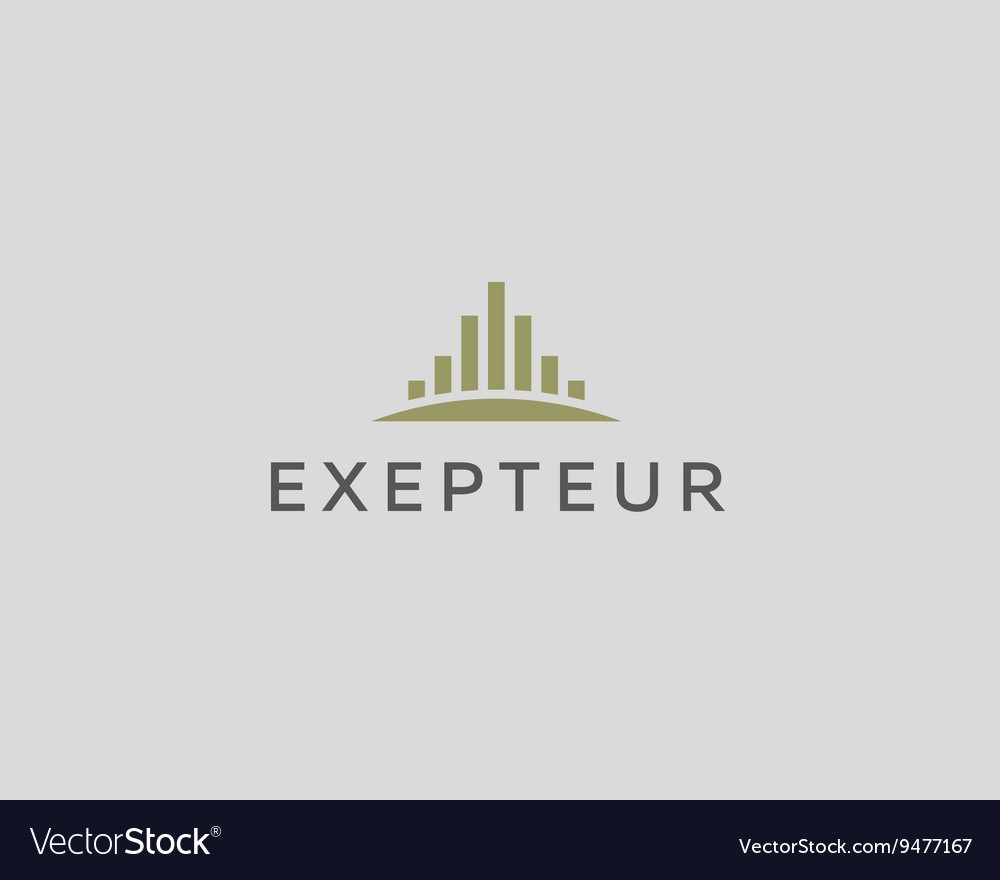 Abstract City logo design template Premium real vector image