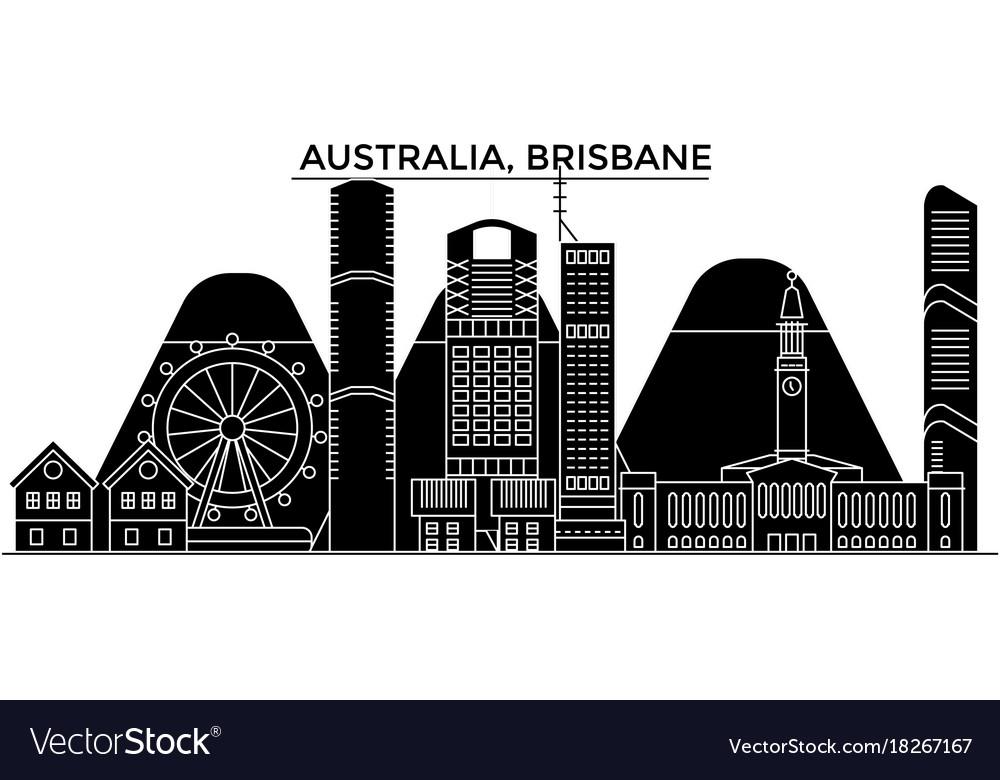 Australia brisbane architecture city vector image