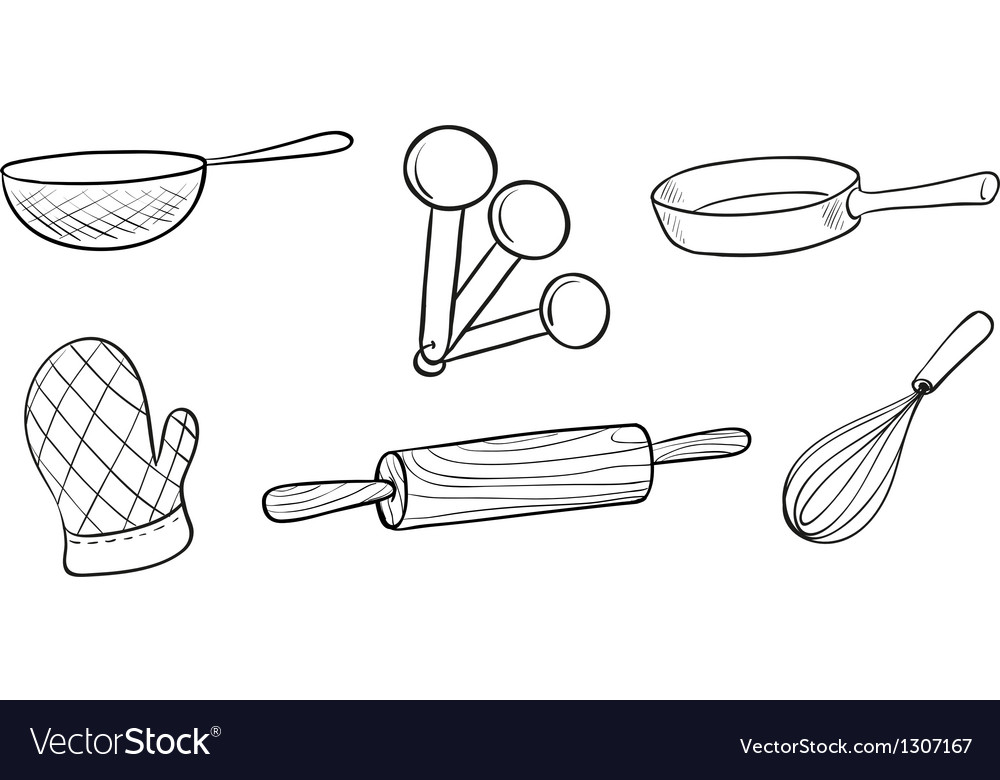 Baking tools vector image