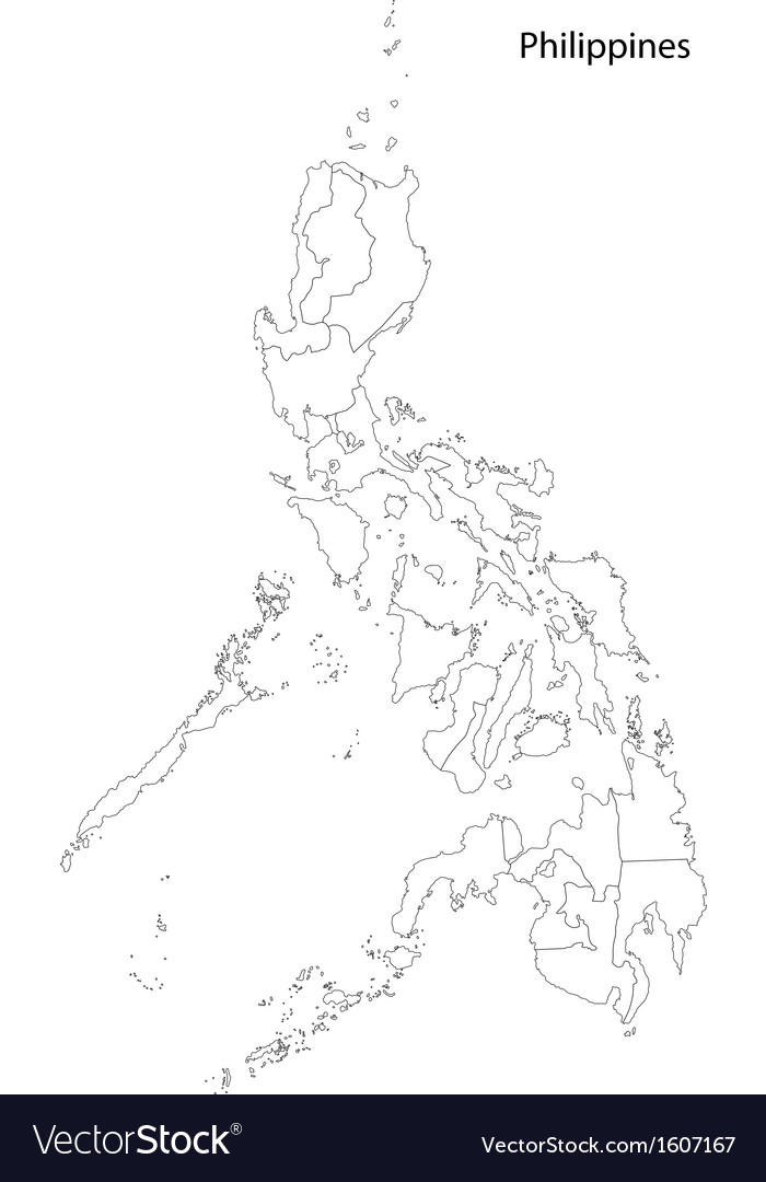 Contour Philippines map vector image