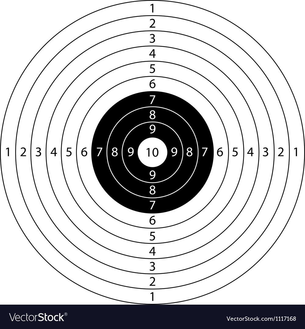Target sport Vector Image