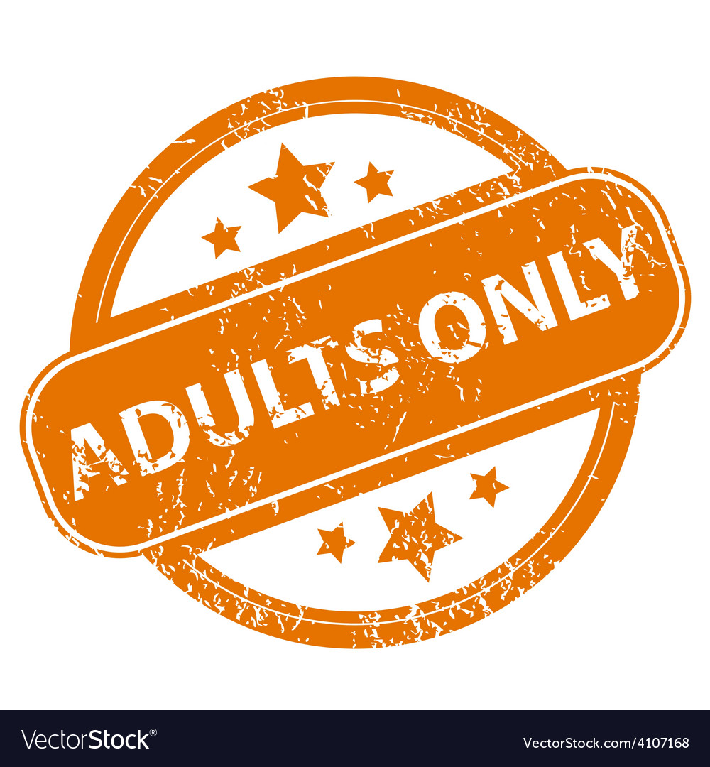 Adults only grunge icon vector image