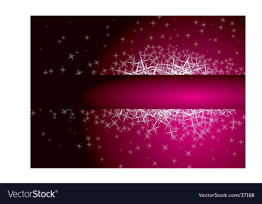 Star banner vector image