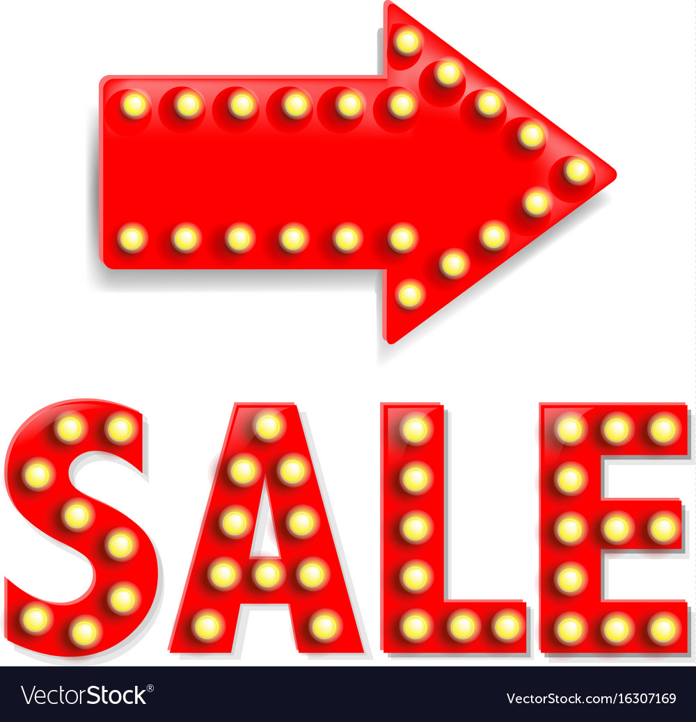 Arrow with sale text vector image