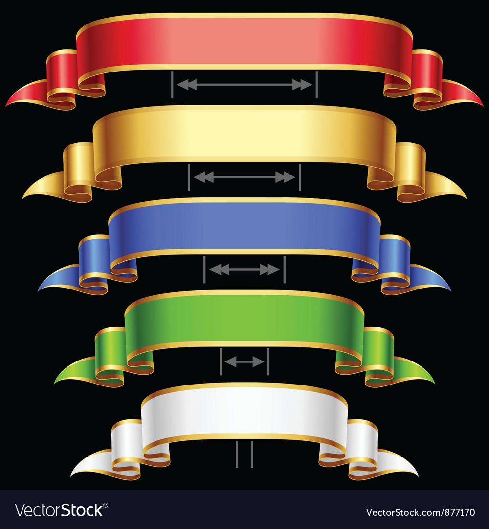 Ribbon set vector image