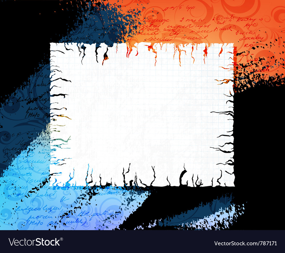 Grungy banner vector image