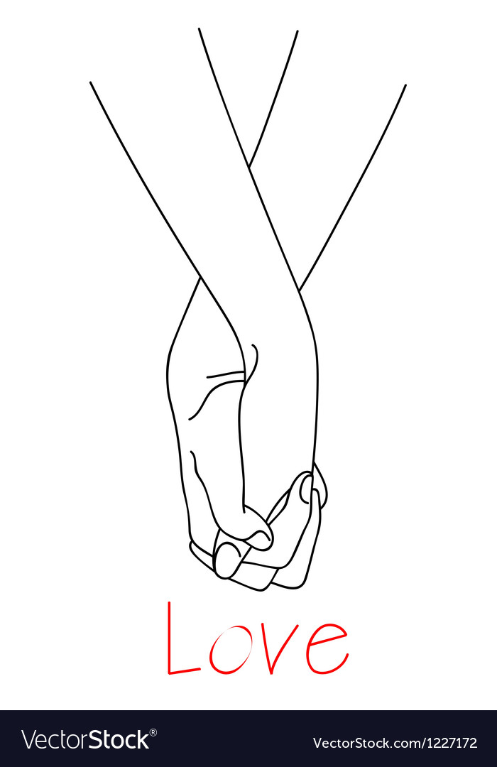 Hands of falling in love vector image