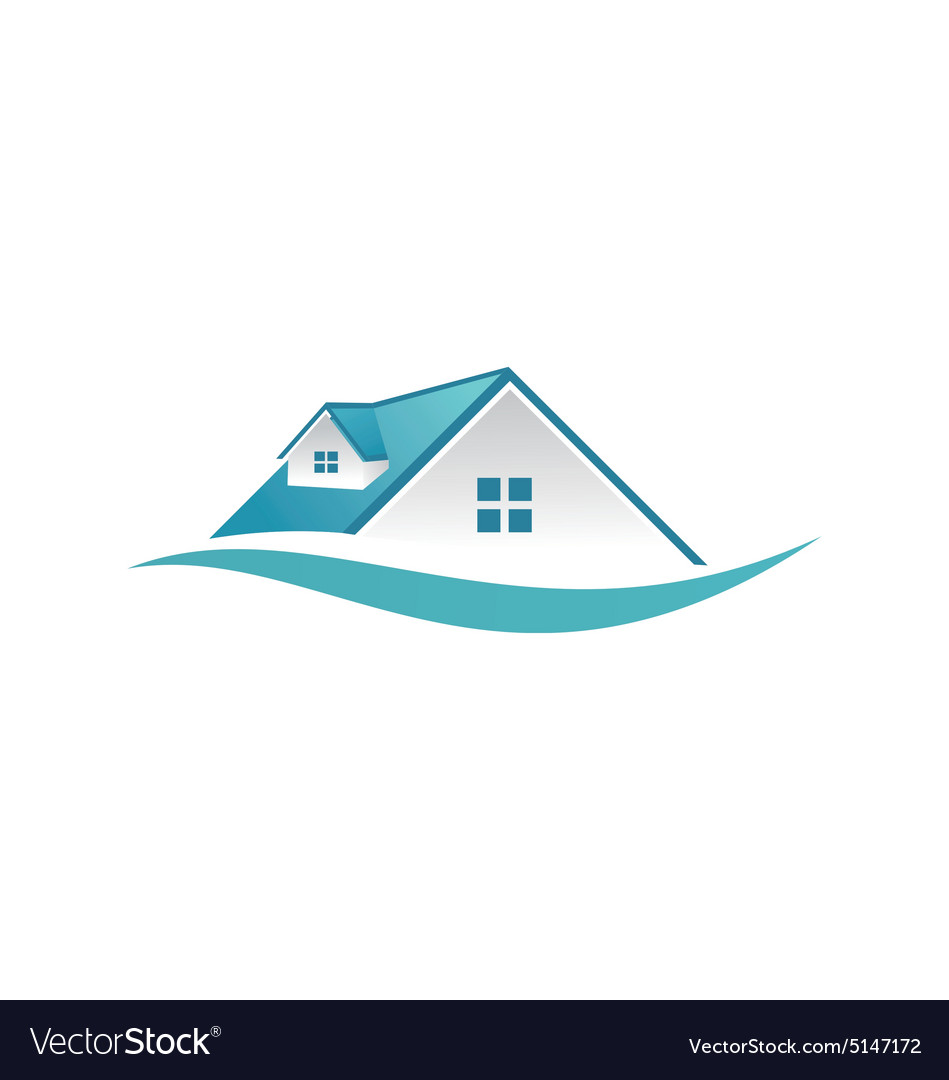 house roof construction business logo royalty free vector