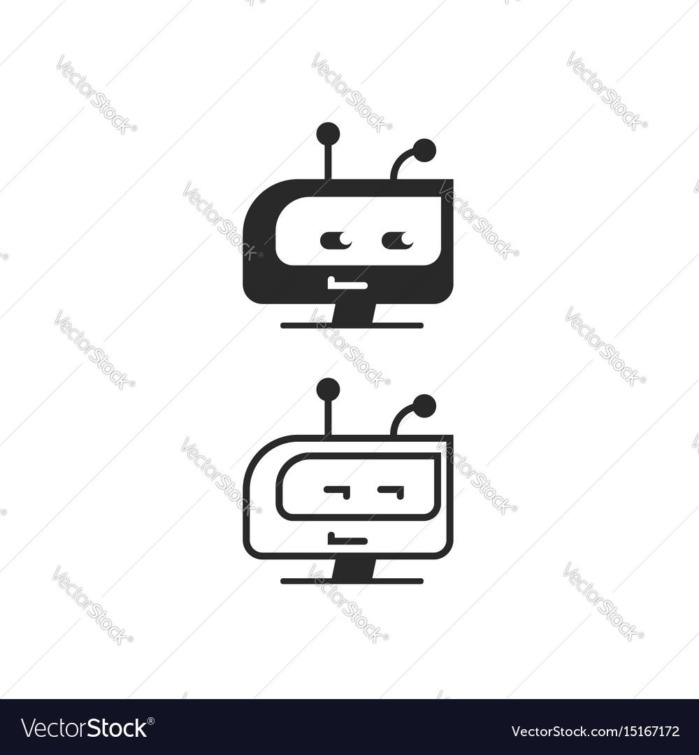 Robot head icon chatbot idea or bot logo vector image