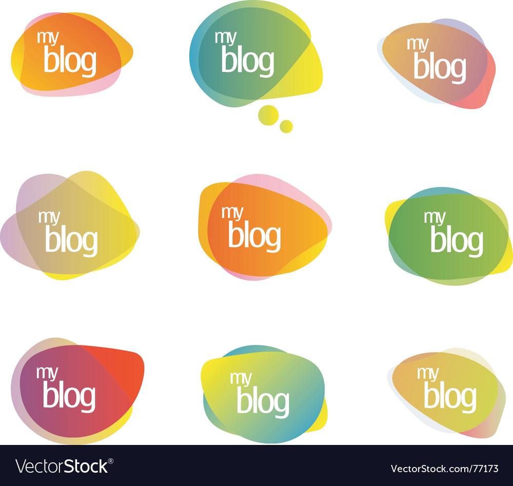 Blog vector image
