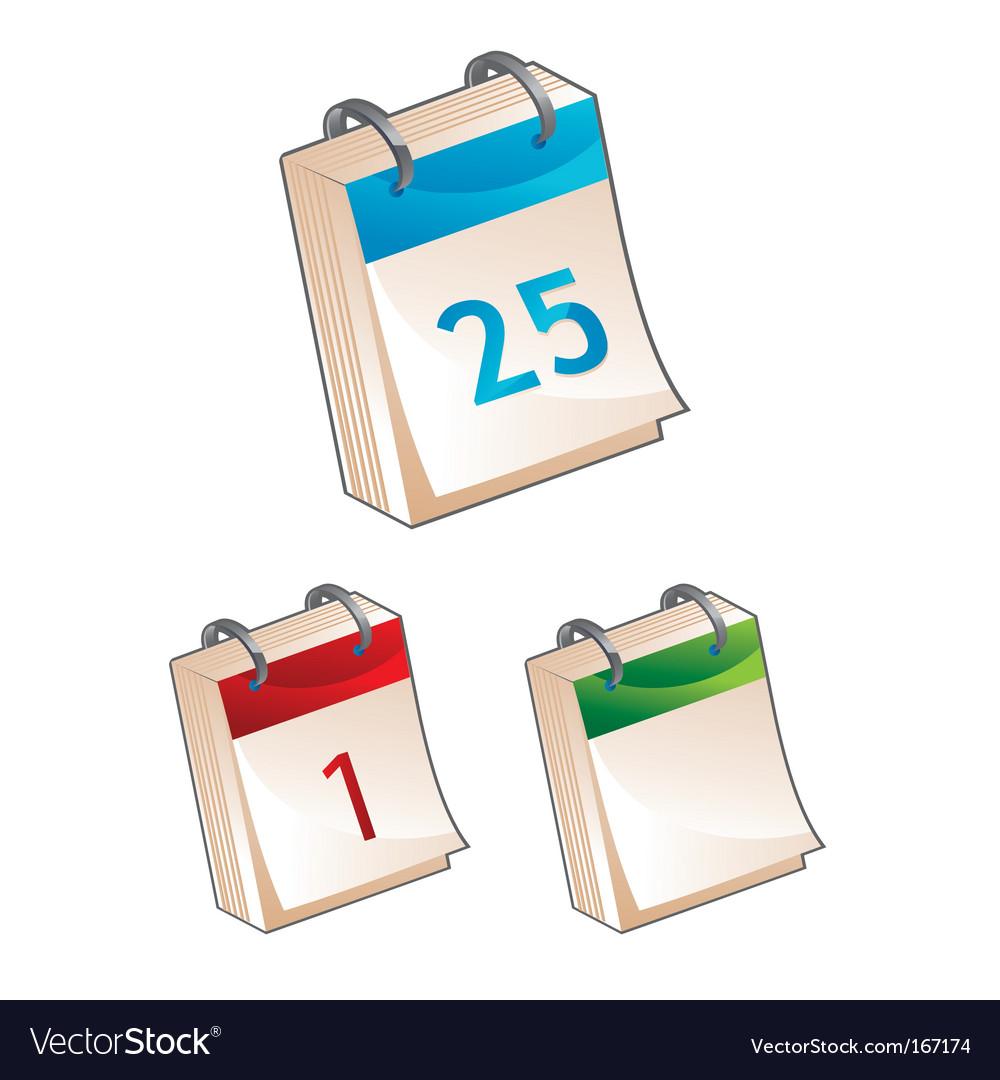 Calendar icon illustration vector image
