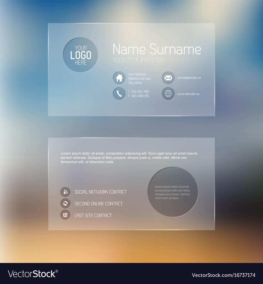 Modern transparent business card template vector image fbccfo Image collections