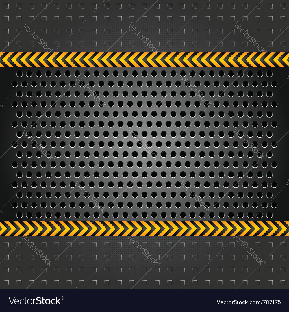 Metallic background template perforated iron sheet vector image