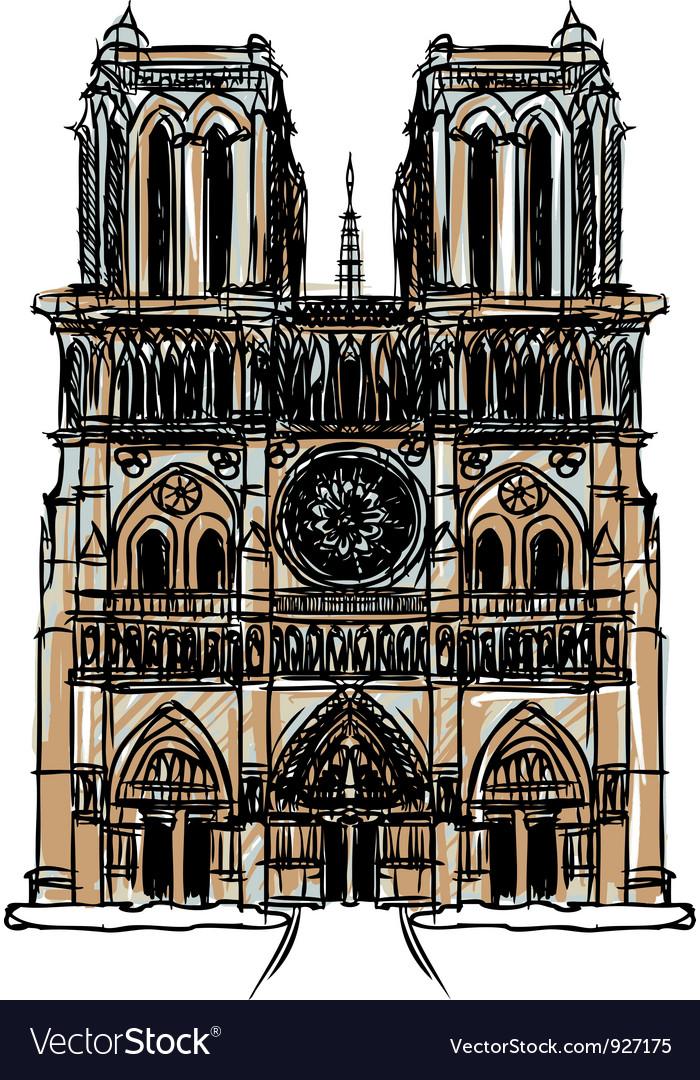 Notre Dame Cathedral Paris vector image
