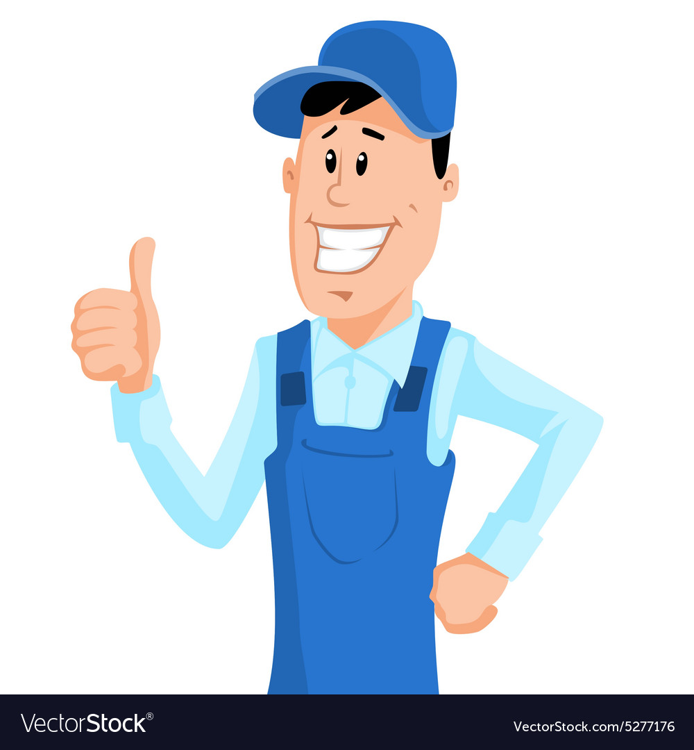 Cute Service Man vector image