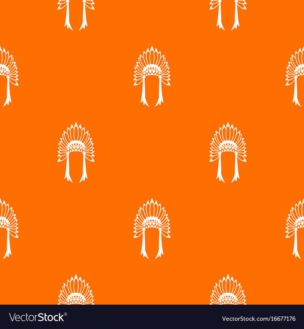 Indian headdress pattern seamless vector image