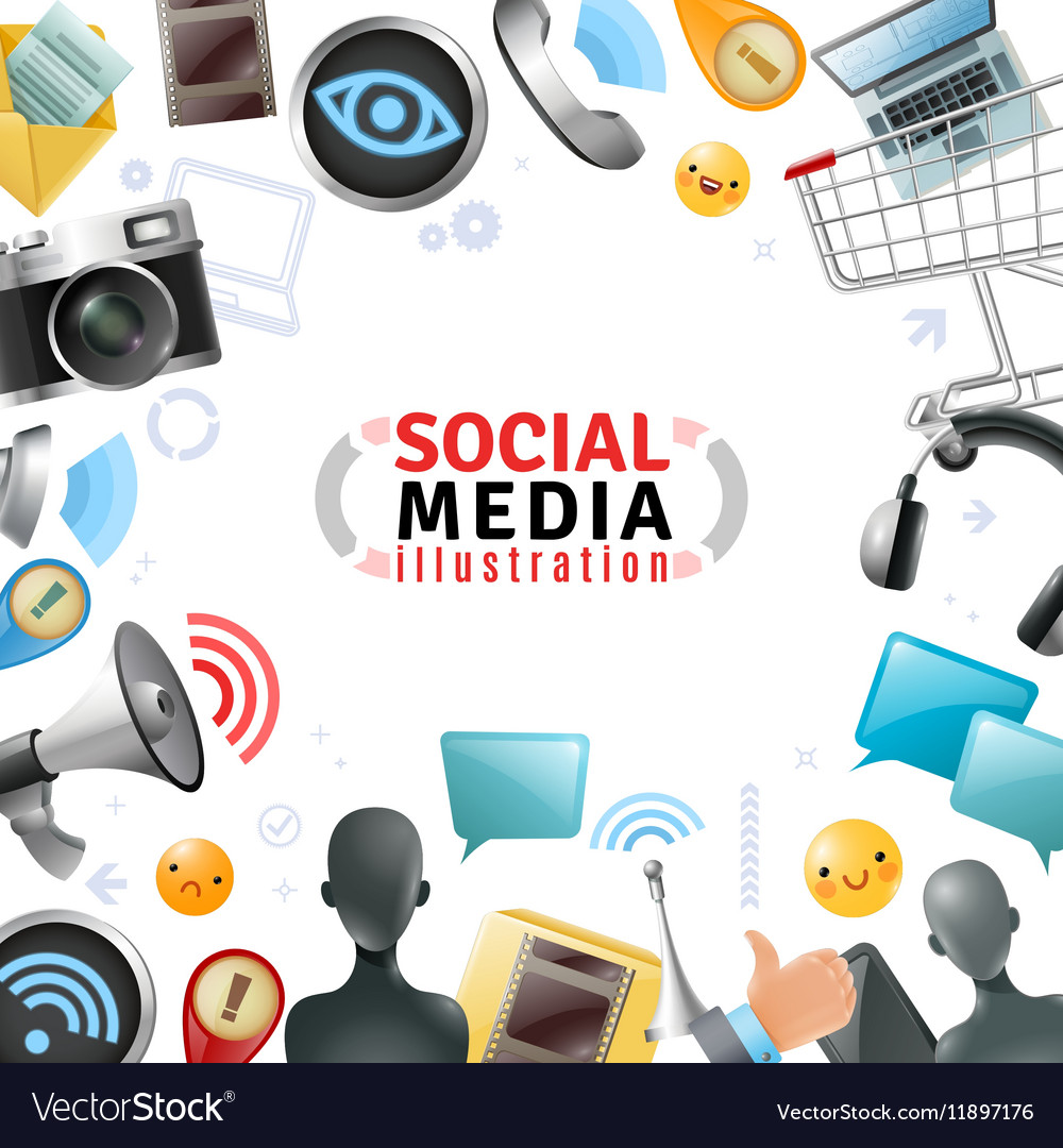 Social Media Template Royalty Free Vector Image - Mediatemplate