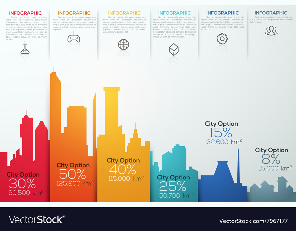 Modern infographic option banner with colorful vector image