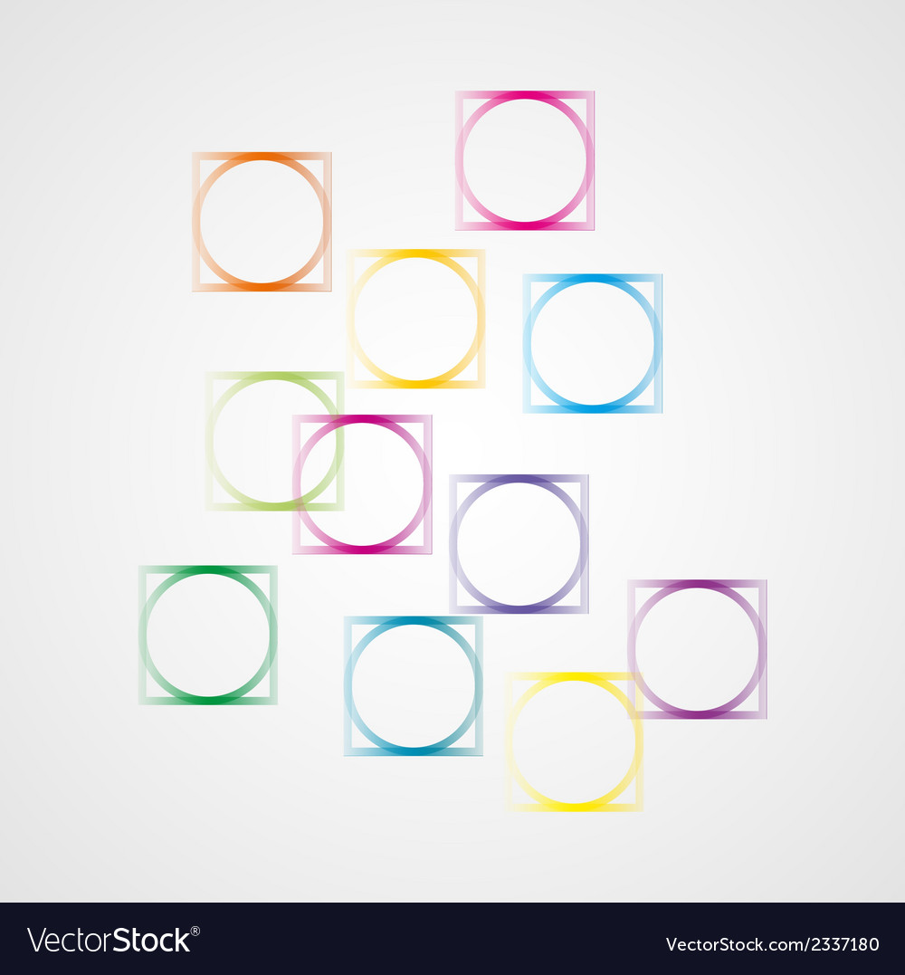 Background with squares and circles vector image