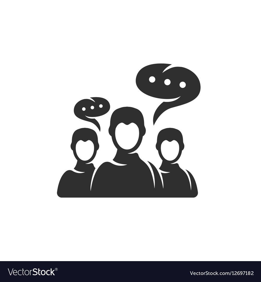 Discussion icon isolated on a white background vector image