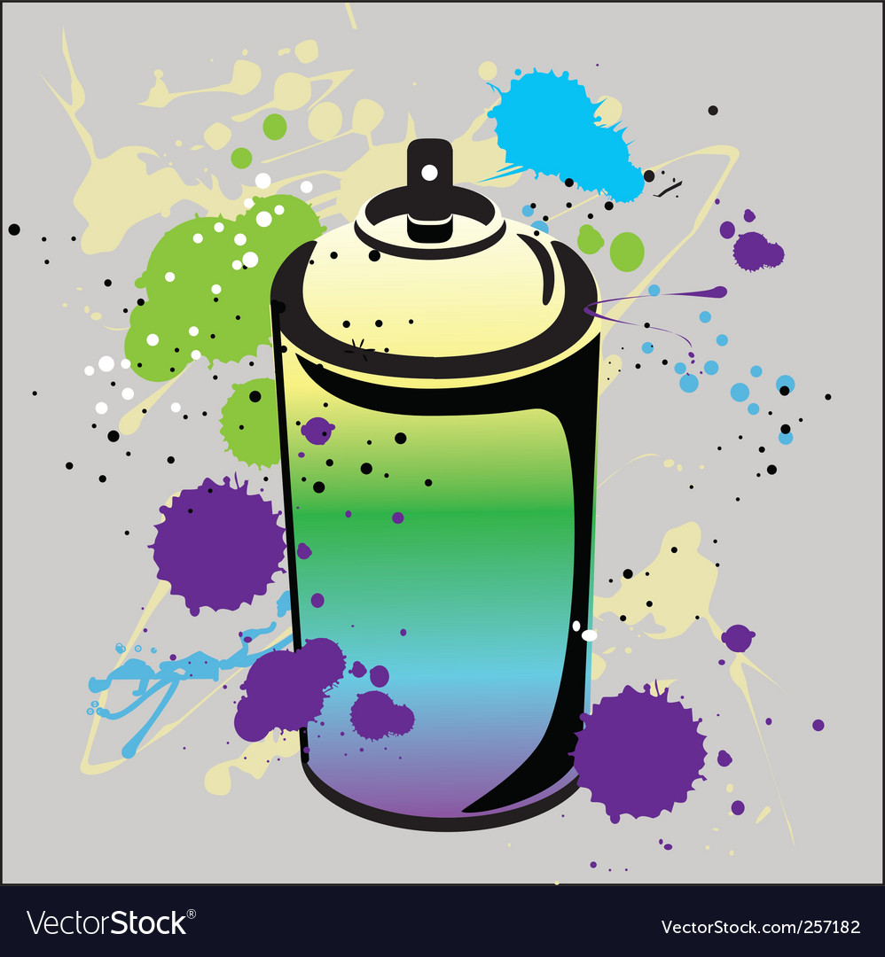 Grafitti spray can vector image