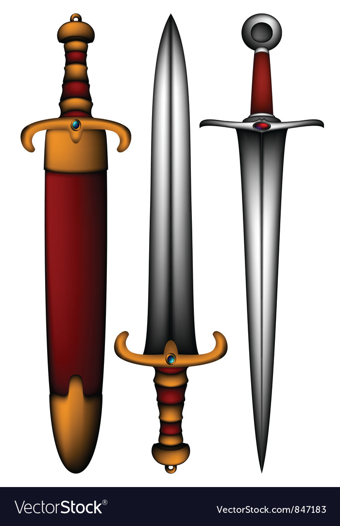 Set of ancient weapon vector image