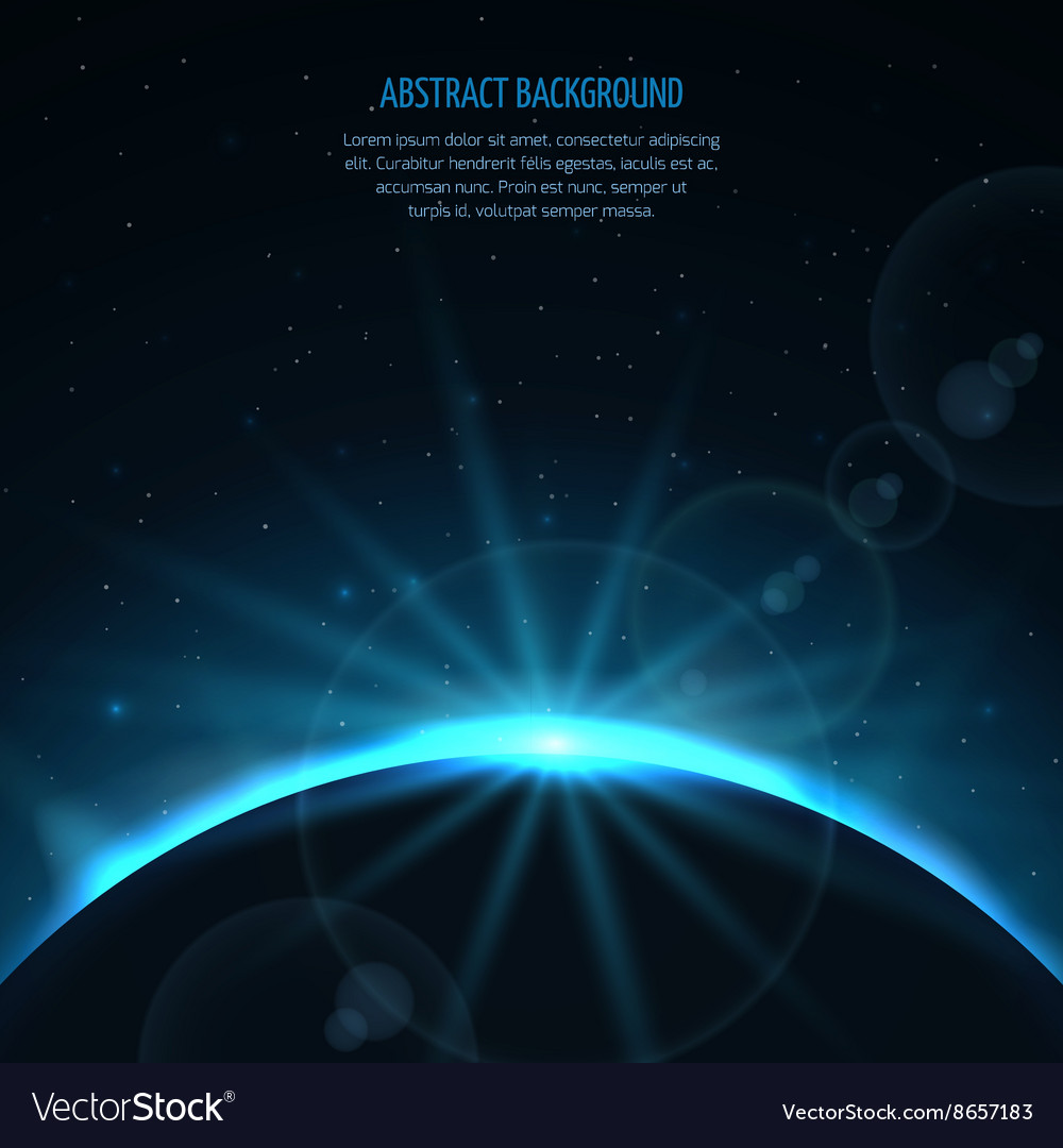 Abstract space fantastic background with vector image