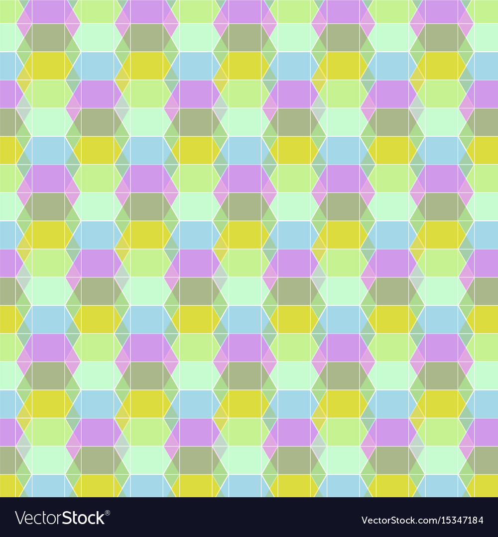 Seamless geometric pastel pattern vector image