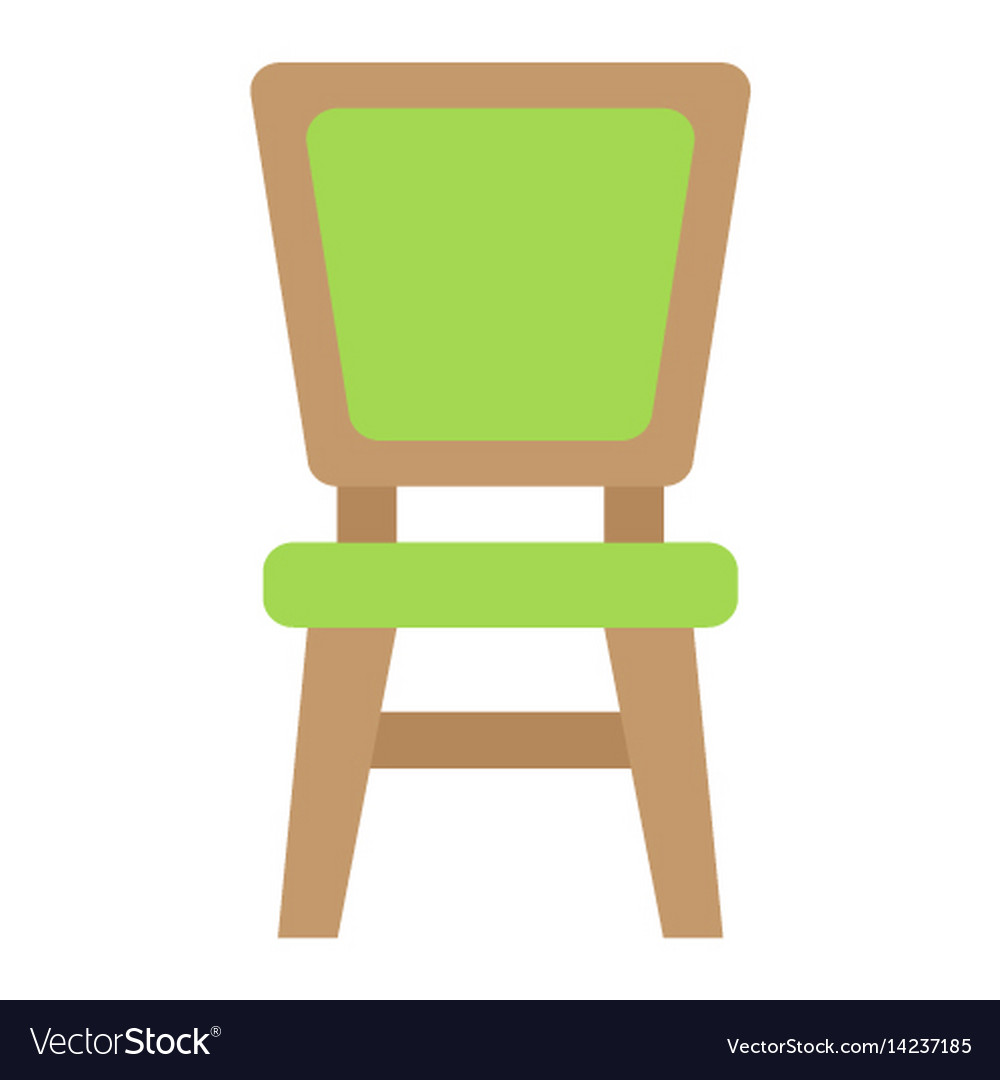 Chair flat icon furniture and interior vector image