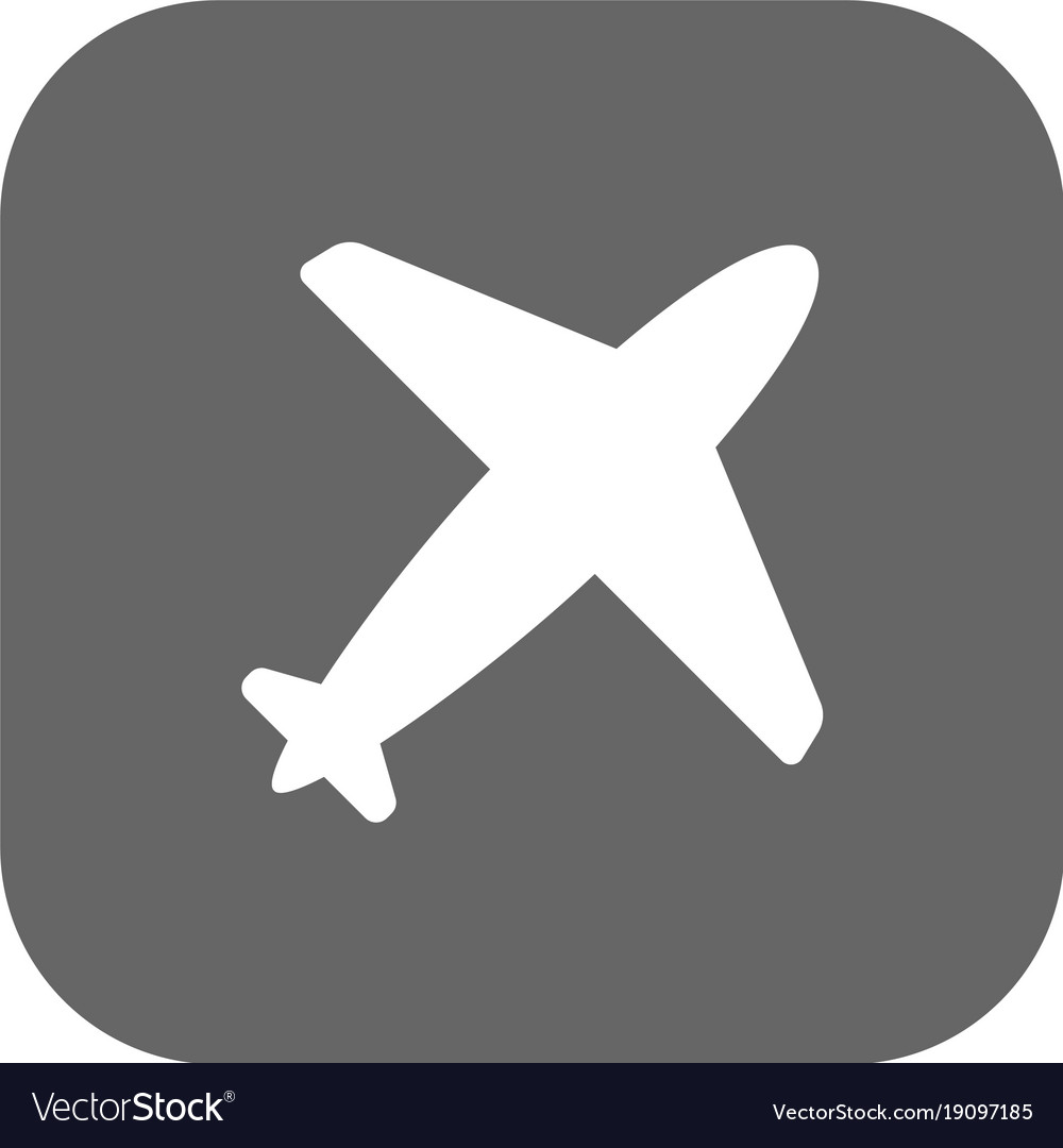Flight airlines icon dark grey new trendy flat vector image