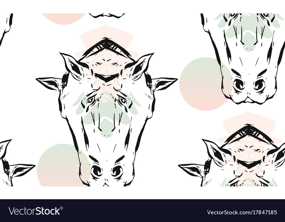 Hand drawn lined abstract ink graphic vector image