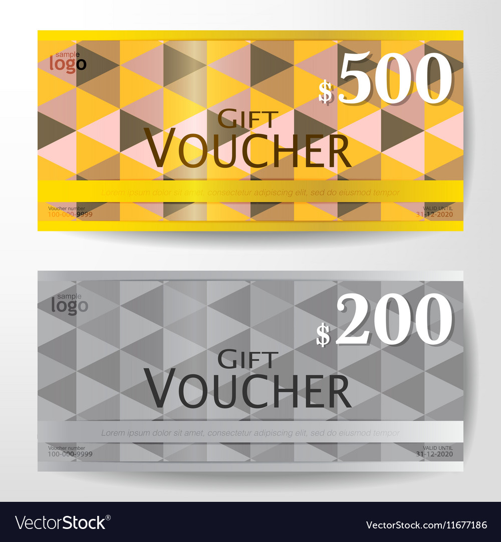Premium Gift Voucher Graphic Template Royalty Free Vector
