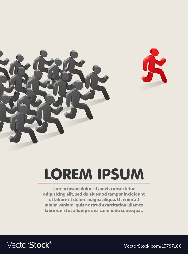 Running leader business success concept vector image