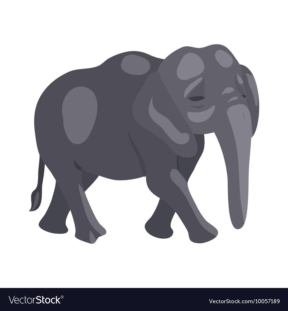 Elephant icon cartoon style vector image