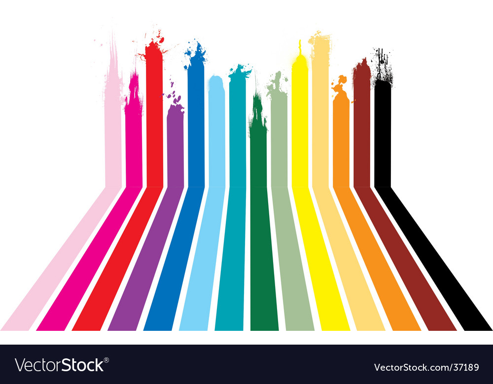 Rainbow splat design vector image