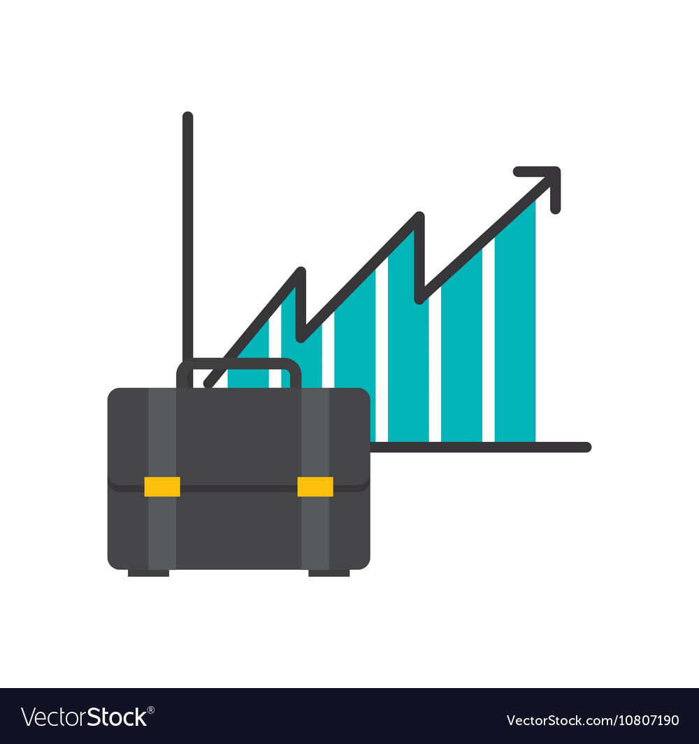 Infographic with briefcase icon vector image