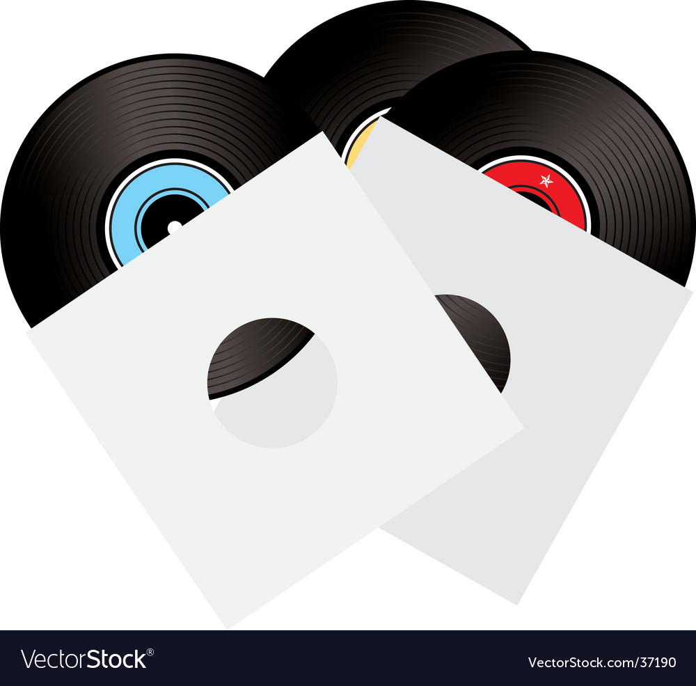 Record sleeve vector image