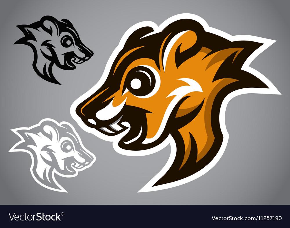 Wild Squirrel head brown logo 2901 vector image
