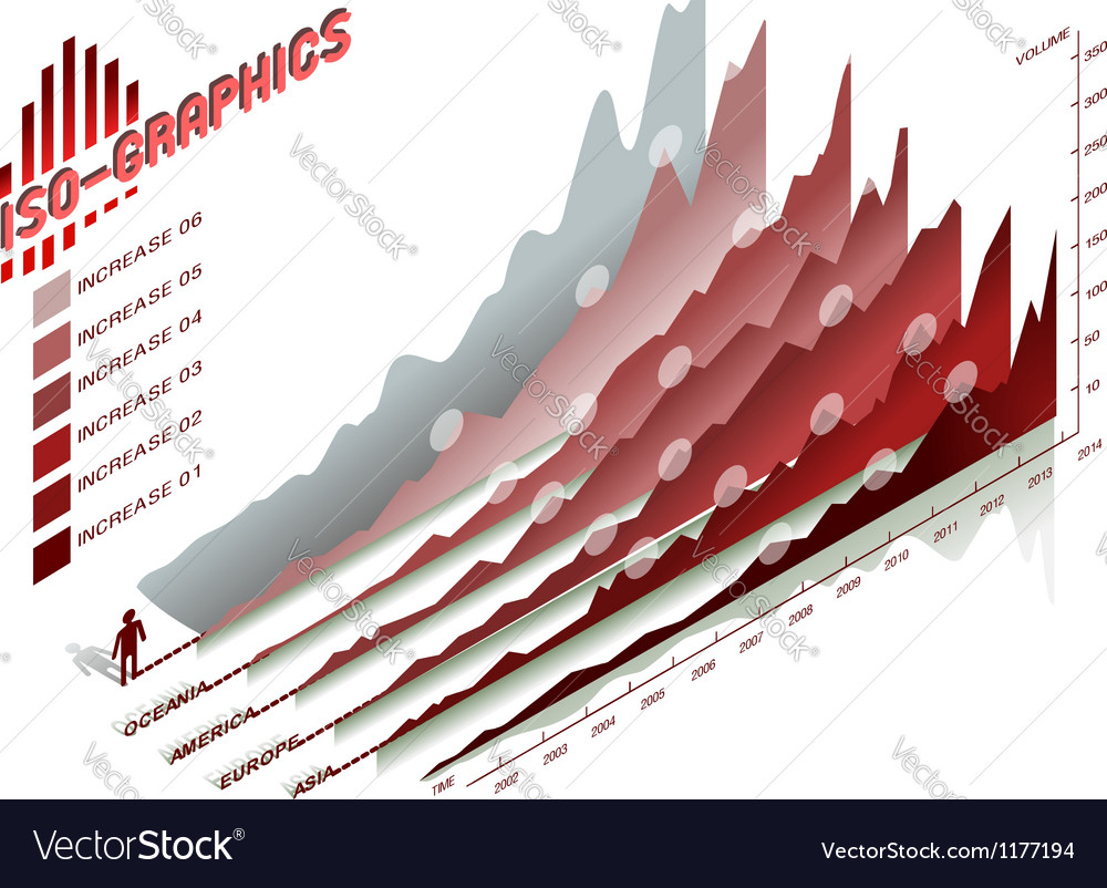 Infographic set elements in red vector image