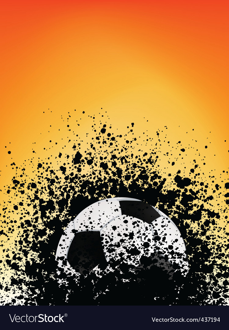 Football grunge poster orange light Vector Image