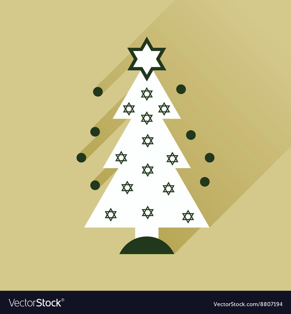 Christmas tree flat icon