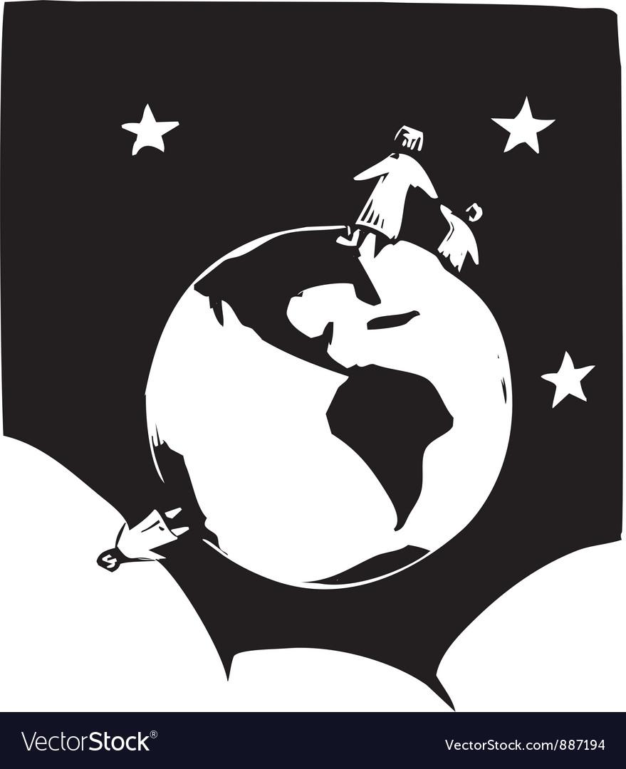 Small World vector image