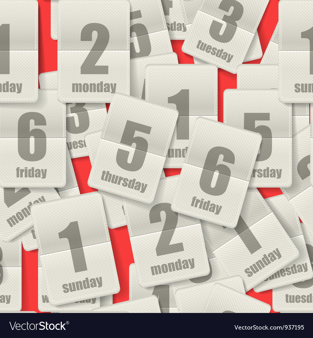 Calendar Page vector image
