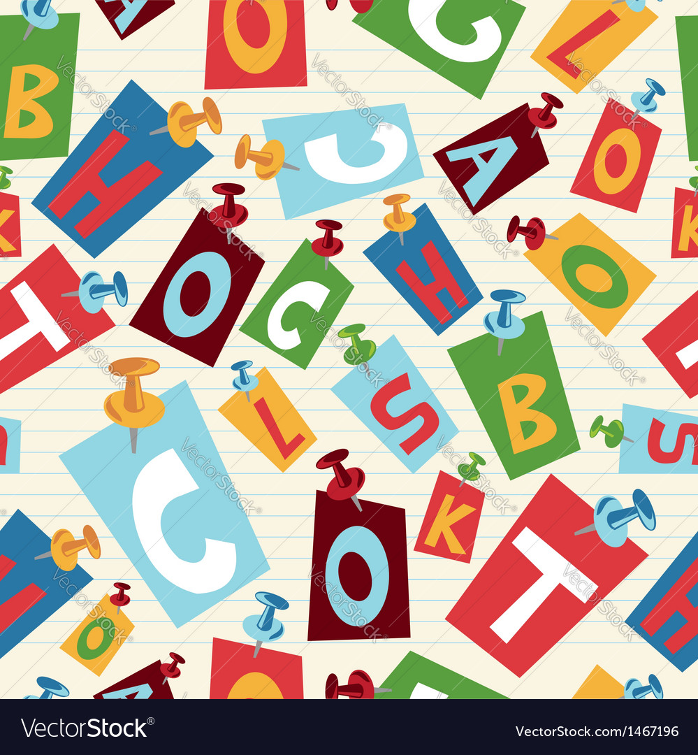 Back to School letters pattern vector image